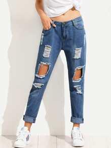 Jeans avec détail de trou