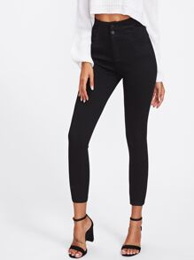 Jeans moulant taille haute