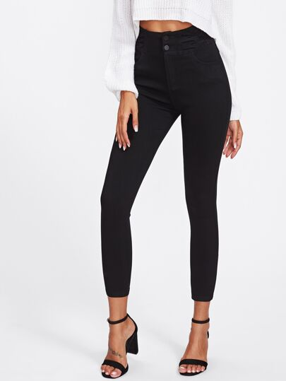 Schmale Jeans mit hoher Taille