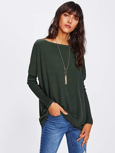 Tee-shirt long manche dolman