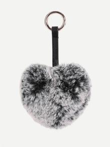 Heart Shaped Faux Fur Bag Accessories