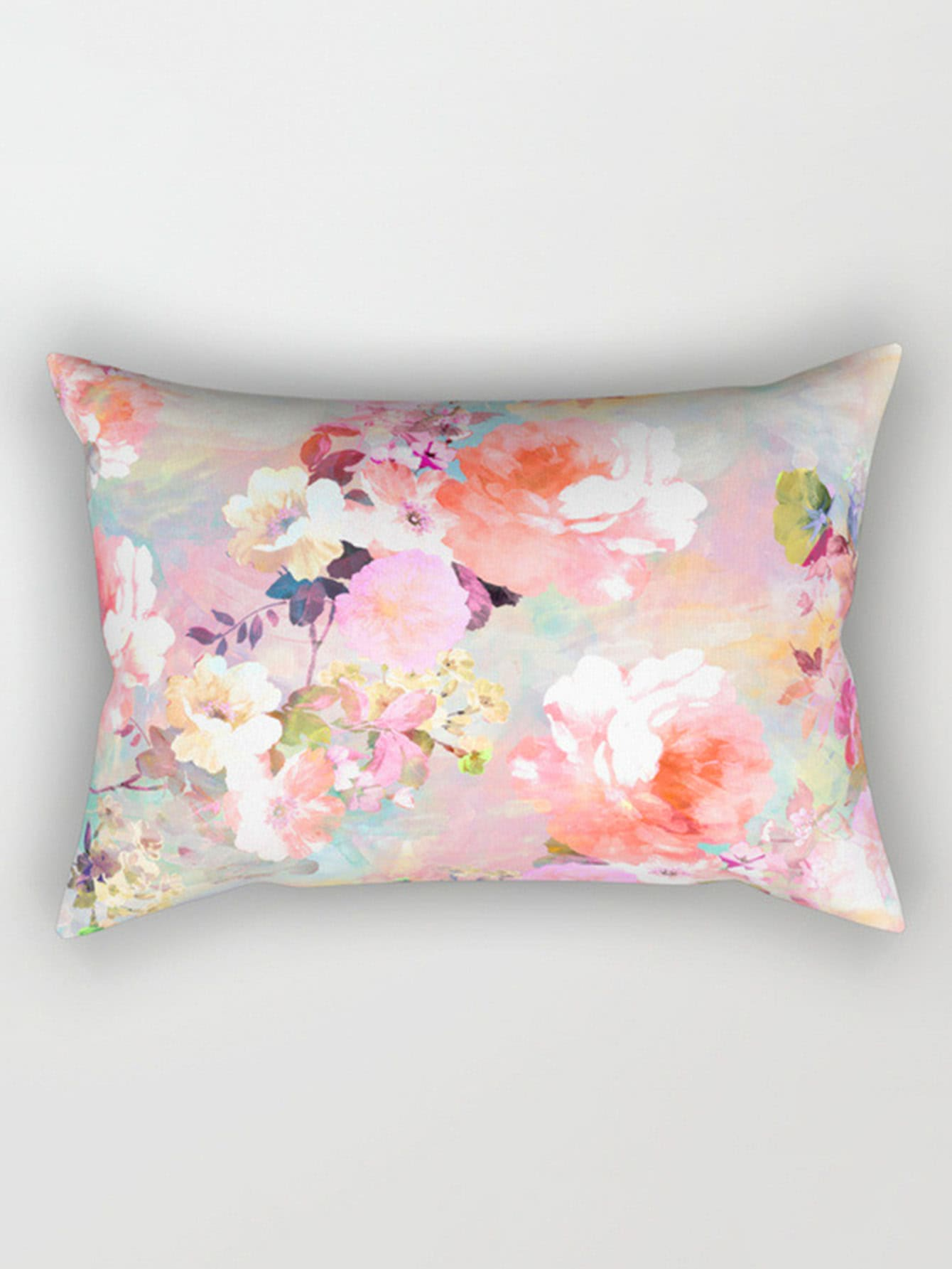 Image of Calico Print Pillowcase Cover