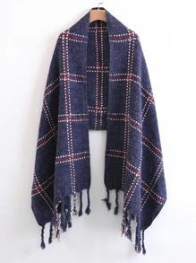 Plaid Schal mit Franse
