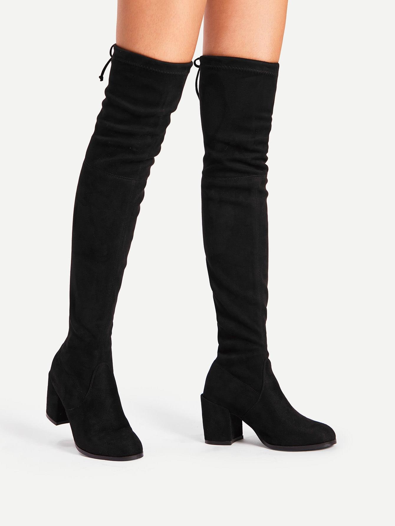 Купить Модные сапоги на каблуках с бантом, null, SheIn