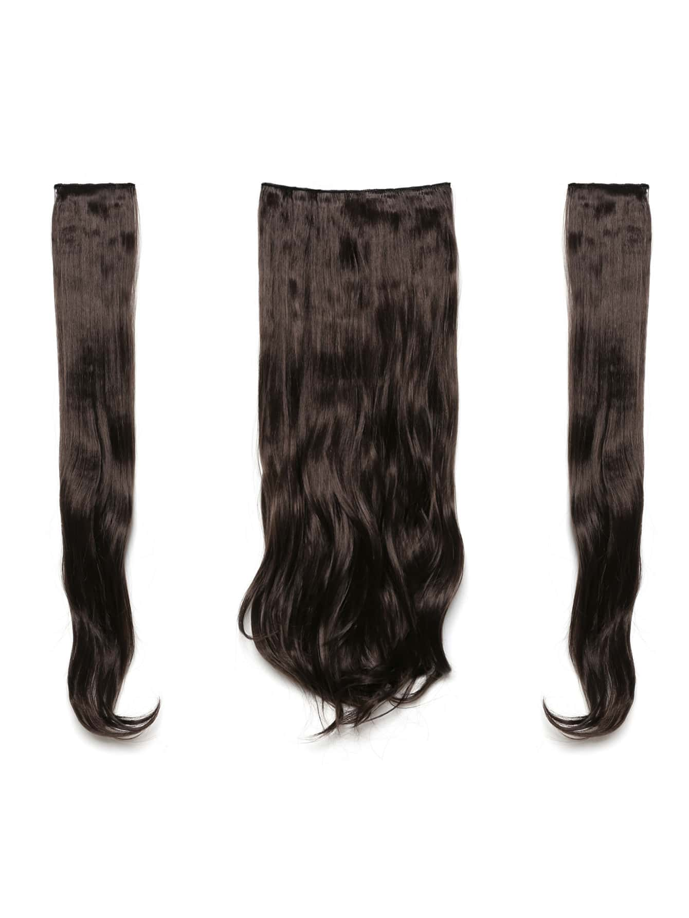цена на Choc Brown Clip In Soft Wave Hair Extension 3pcs
