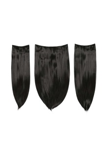 Raven Clip In Straight Hair Extension 3pcs