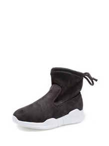 Suede Drawstring Detail Trainers