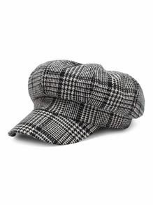 Chapeau Bakerboy pieds-de-poule