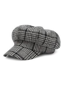 Houndstooth Bakerboy Hat
