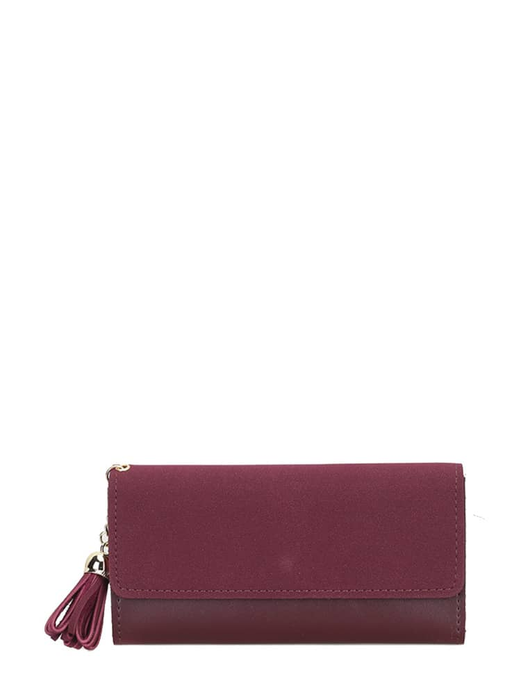Tassel Detail PU Long Wallet рюкзаки wenger 6793301408