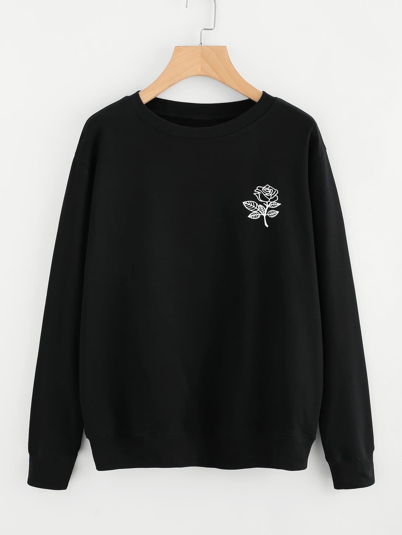 Floral Print Sweatshirt sweatsh171101372