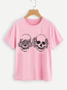 Skull Print T-shirt