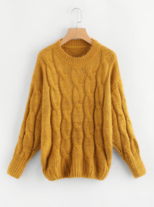 Cable Knit Eyelet Detail Jumper