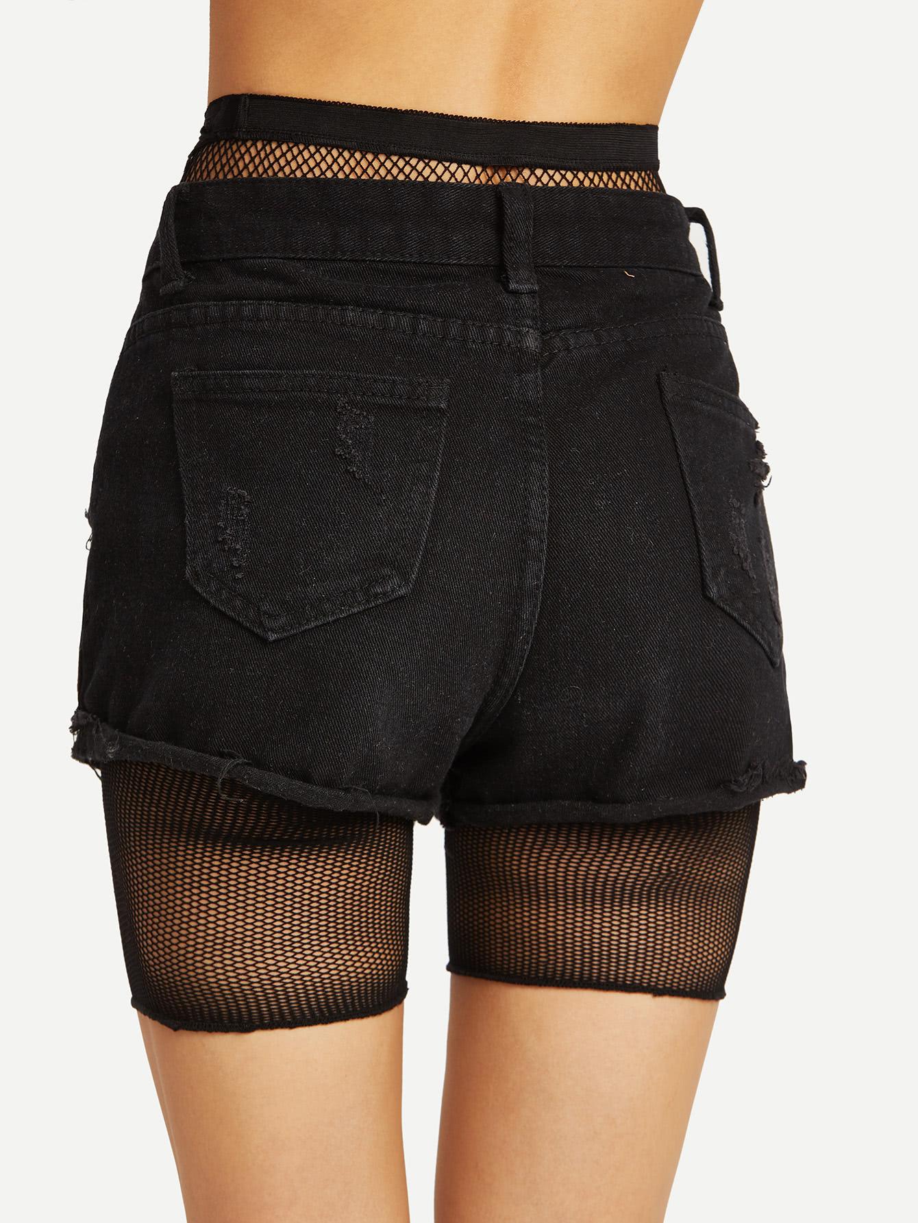 Fishnet Legging Shorts