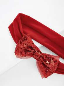 Christmas Sequin Bow Headband