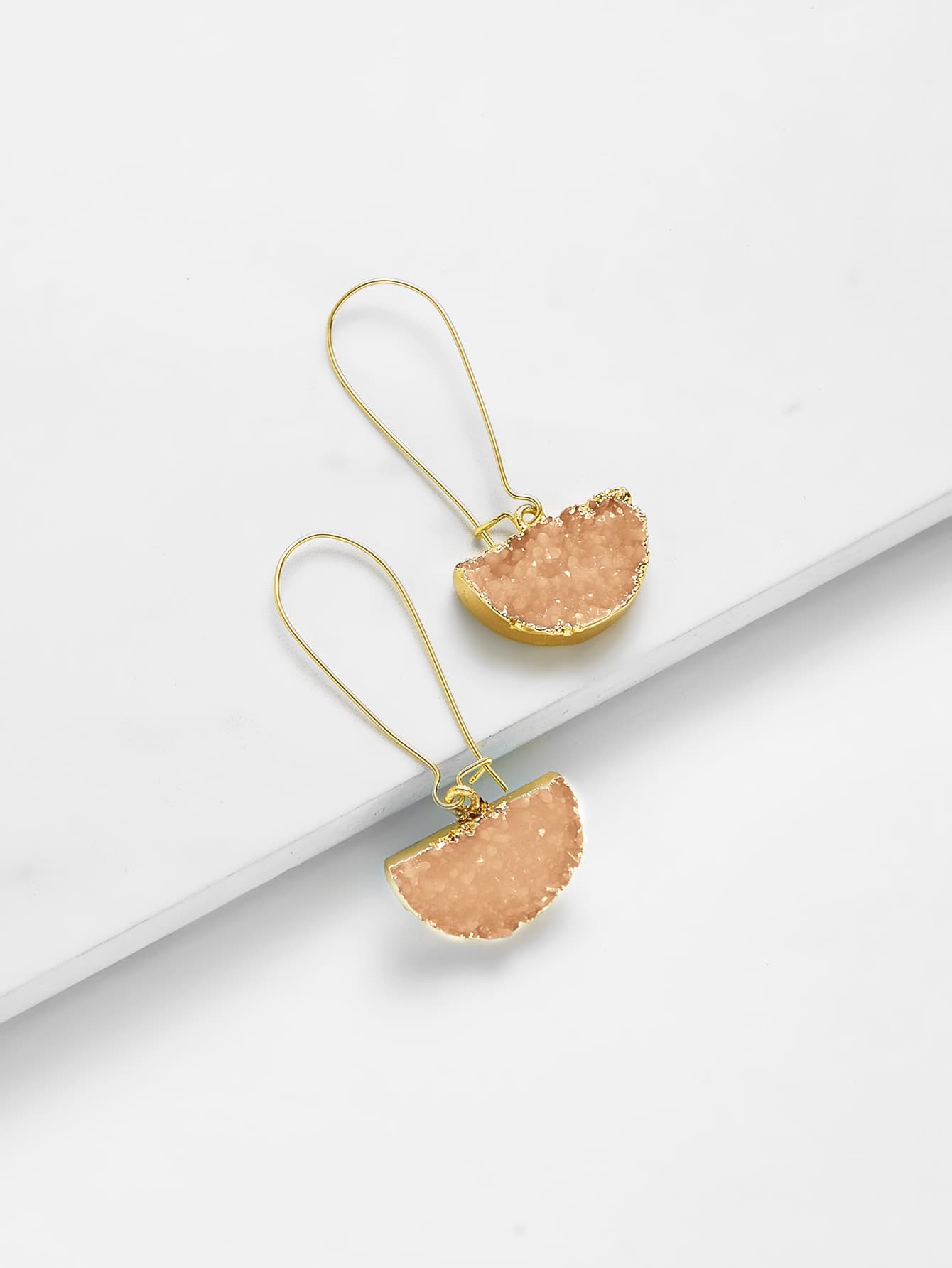 Half Circle Design Drop Earrings