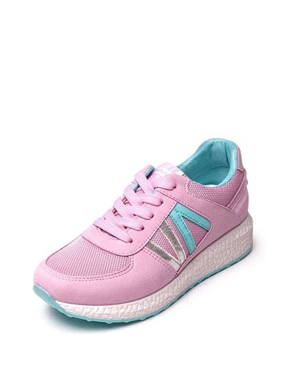 Net Surface Low Top Lace Up Sneakers