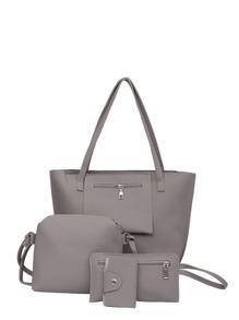 مجموع من الحقائب هي حقيبة أمامها جيب وحقيبة رعي البريد وحقيبة اليد ومحفظة البطاقة