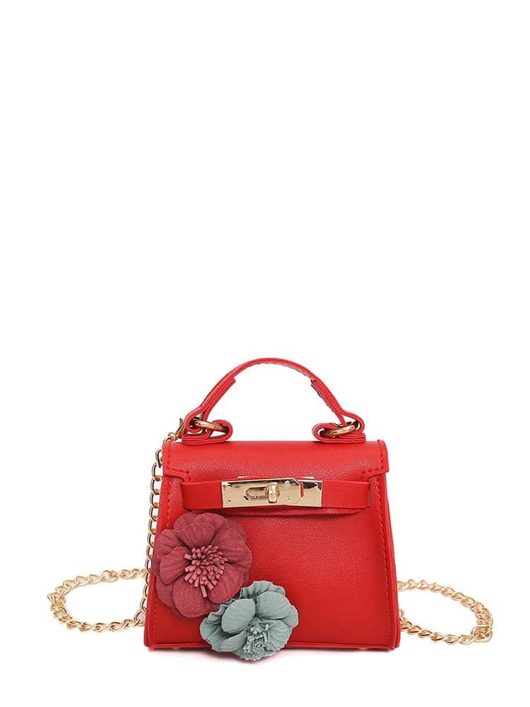 Stereo Applique Twist Lock Chain Bag 120cm 47 bronze twist o ring bag chain diy metal purse strap 20pcs freeshipping