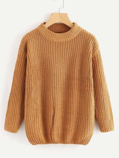 Turtleneck Textured Knit Sweater