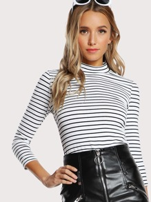 Slim Striped Fitted Tee