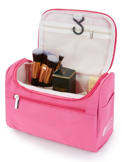 Double Zipper Makeup Bag