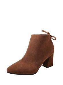 حذاء كعب عالي بني اللون -جذاب