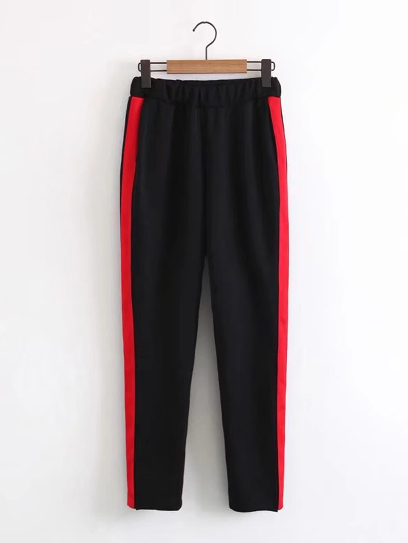 Contrast Tape Sweatpants pants171024203