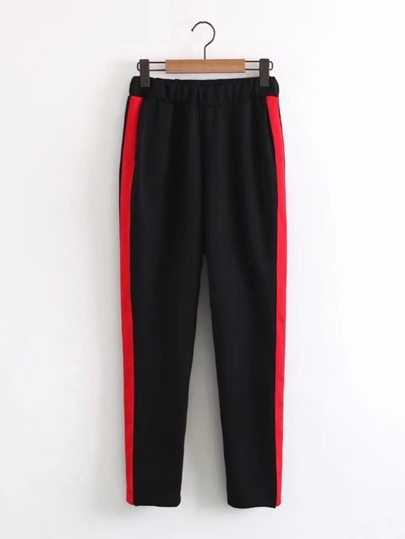 Contrast Tape Sweatpants