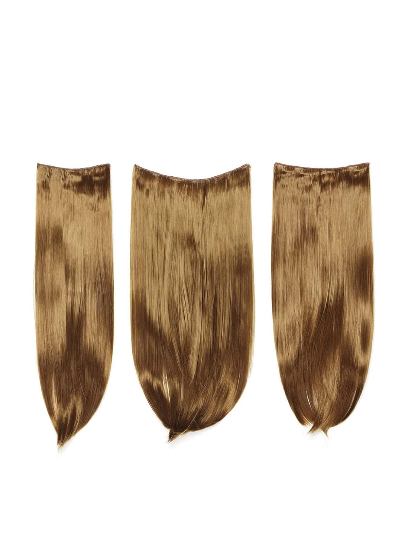 Купить Модные искусственные волосы с заколкой 3 шт., null, SheIn