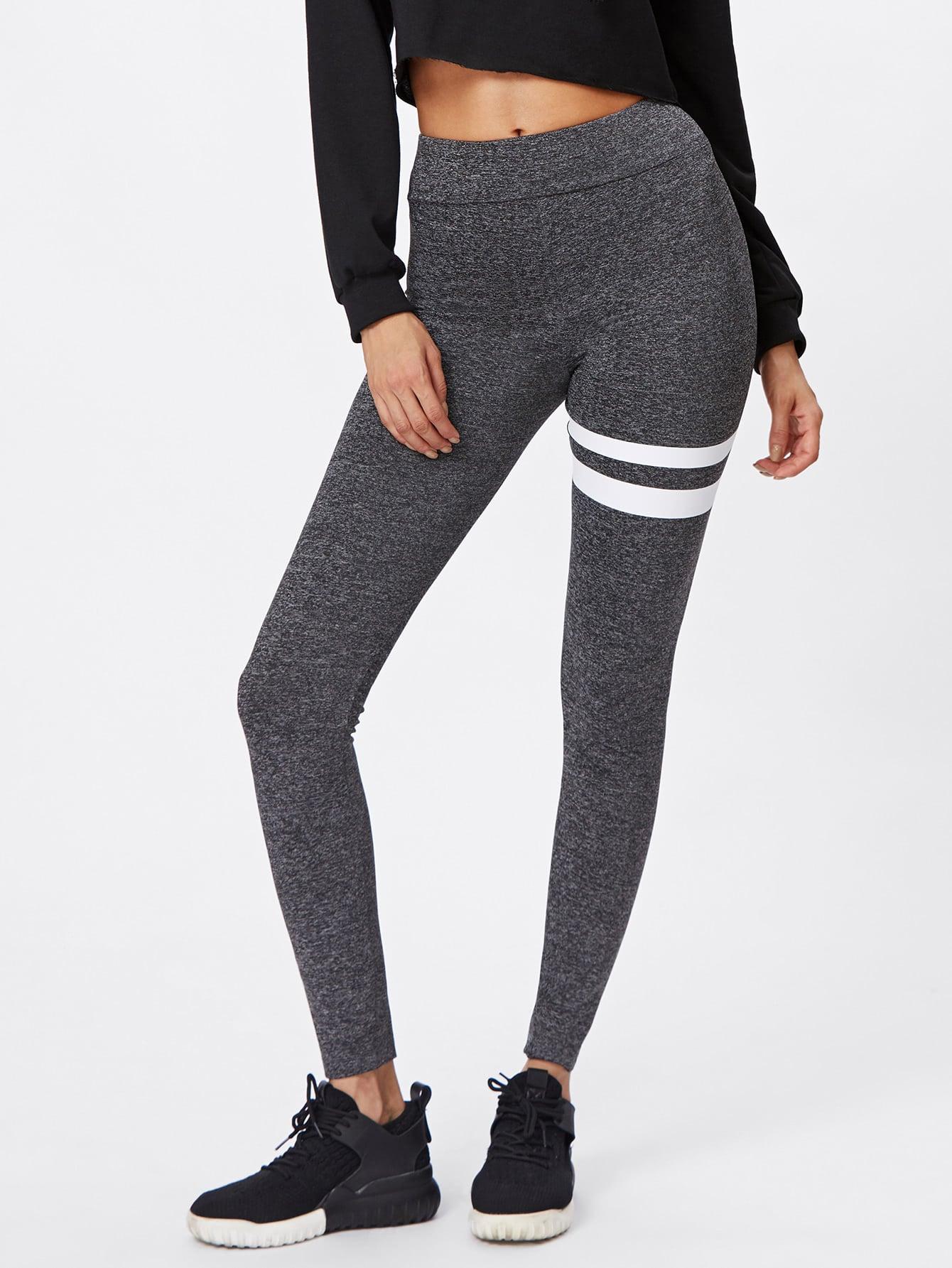 Asymmetric Striped Leggings asymmetric striped leggings