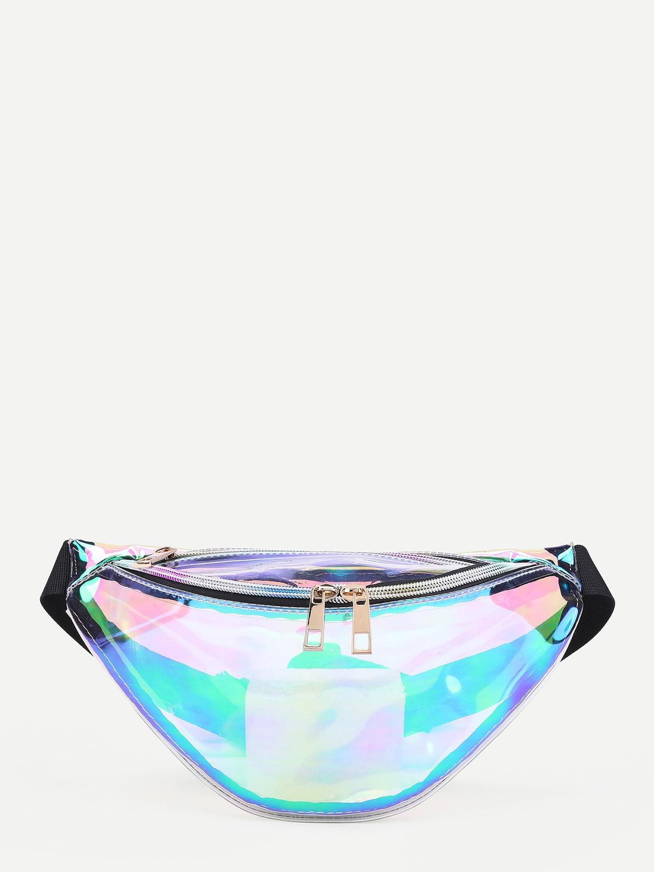 Iridescent Fanny Pack iridescent pu wallet