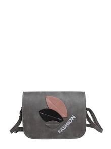 Leaf Patch Flap Shoulder Bag