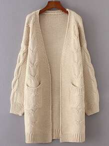 Cable Knit Chunky Longline Cardigan