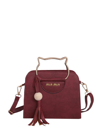 Tassel Detail Shoulder Bag With Cat Ear Handel