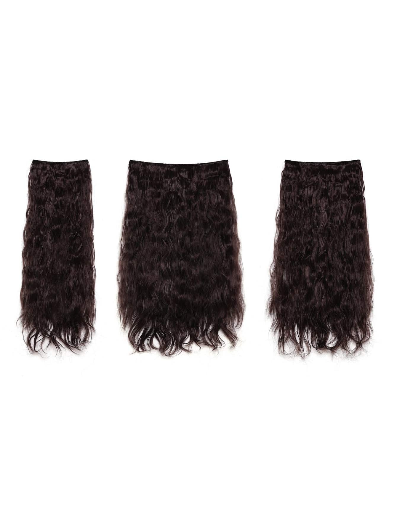 Plum Clip In Curly Hair Extension 3pcs