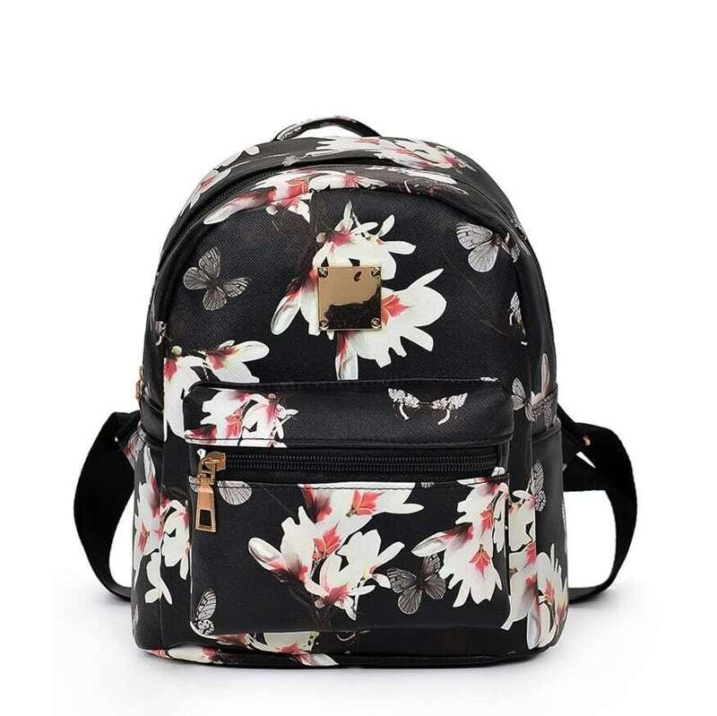 Vintage Flower Print Backpack, Multicolor