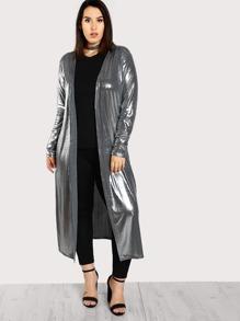 Sheen Metallic Duster Coat