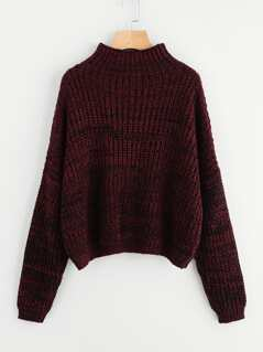 Drop Shoulder High Neck Jumper