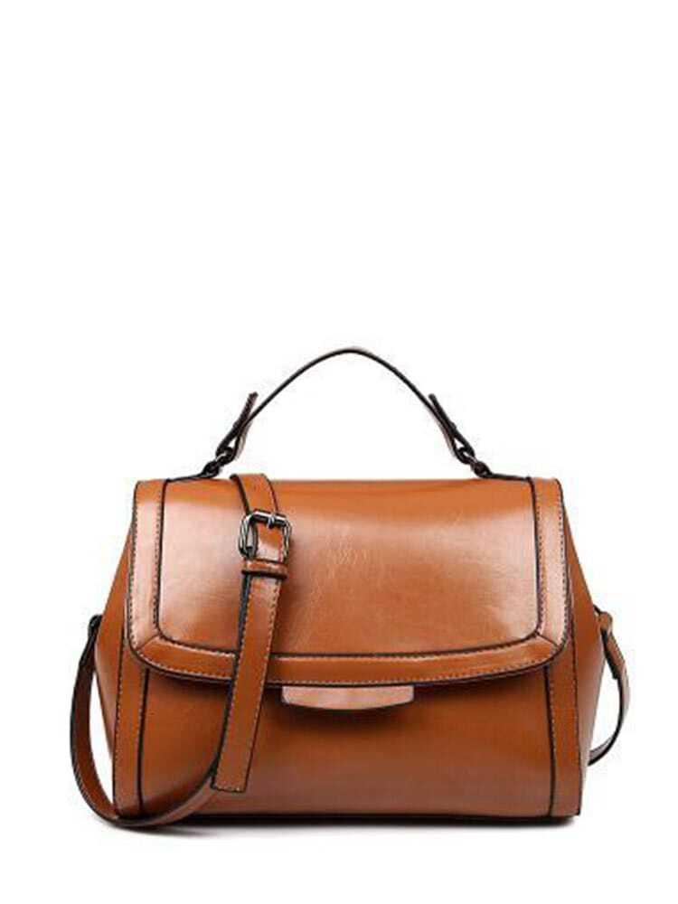 PU Flap Shoulder Bag With Handle все цены