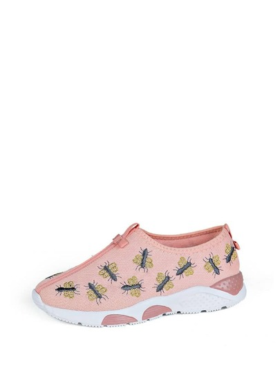 Insect Embroidery Low Top Trainers
