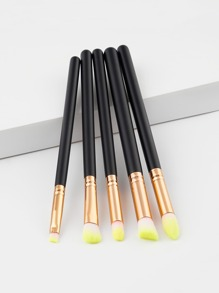 Two Tone Handle Eye Brush 5pcs