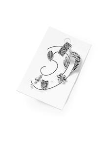 Flower & Leaf Design Earring Set