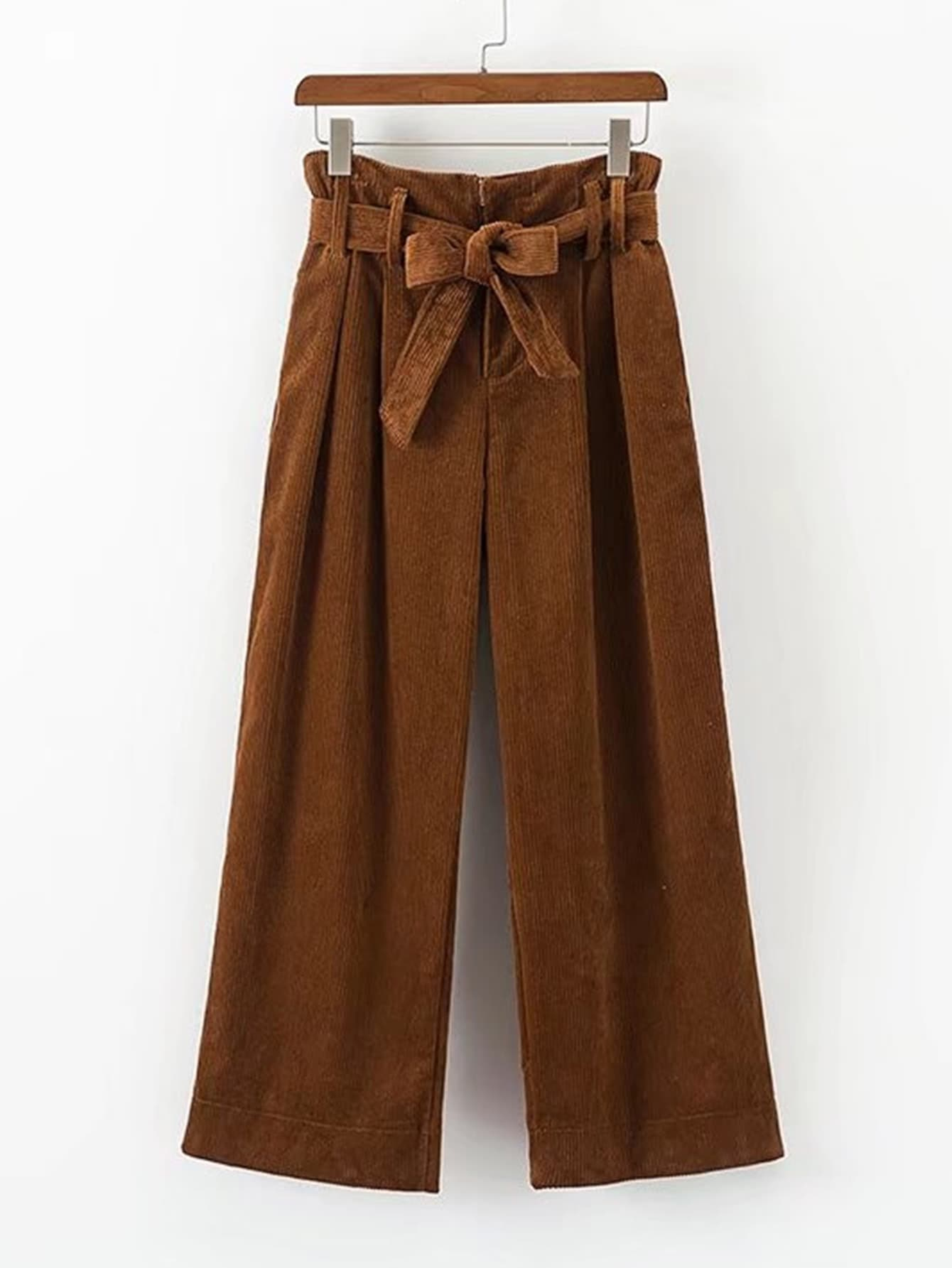 Image of Self Tie Corduroy Pants