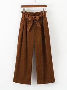 Self Tie Corduroy Pants