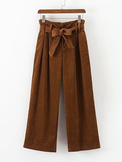 Self Tie Corduroy Pants