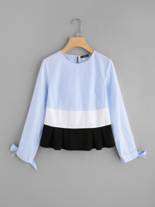Bow Tie Cuff Cut And Sew Top