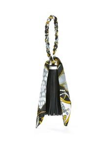 Porte-clés design de frange et écharpe