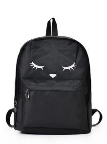 Cartoon Eyes Printed Backpack