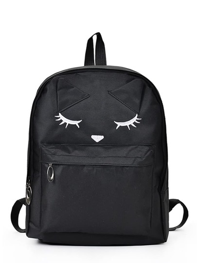 Cartoon Eyes Printed Backpack